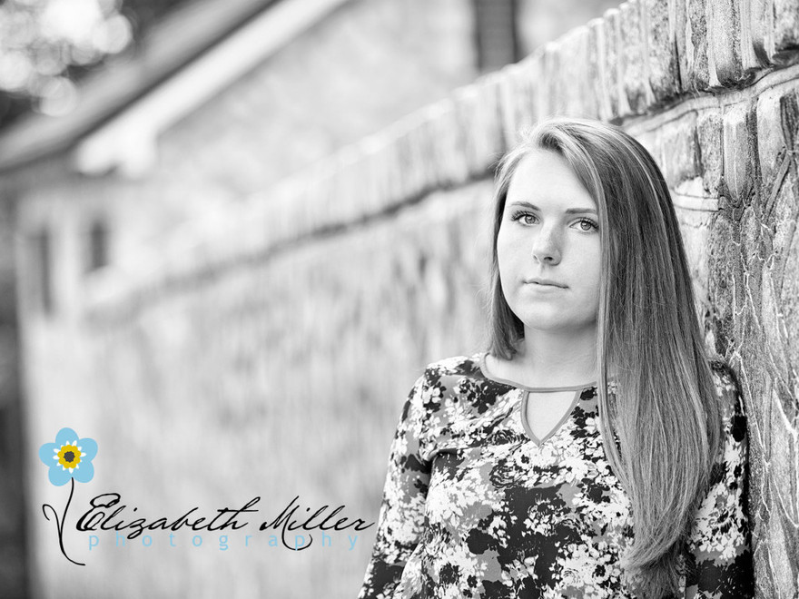 Rachel Senior Portrait Balck & White